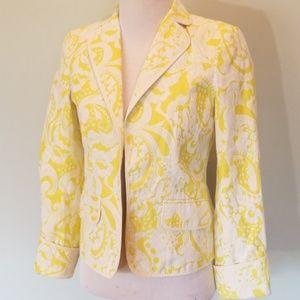 J crew yellow and white jacket/blazer